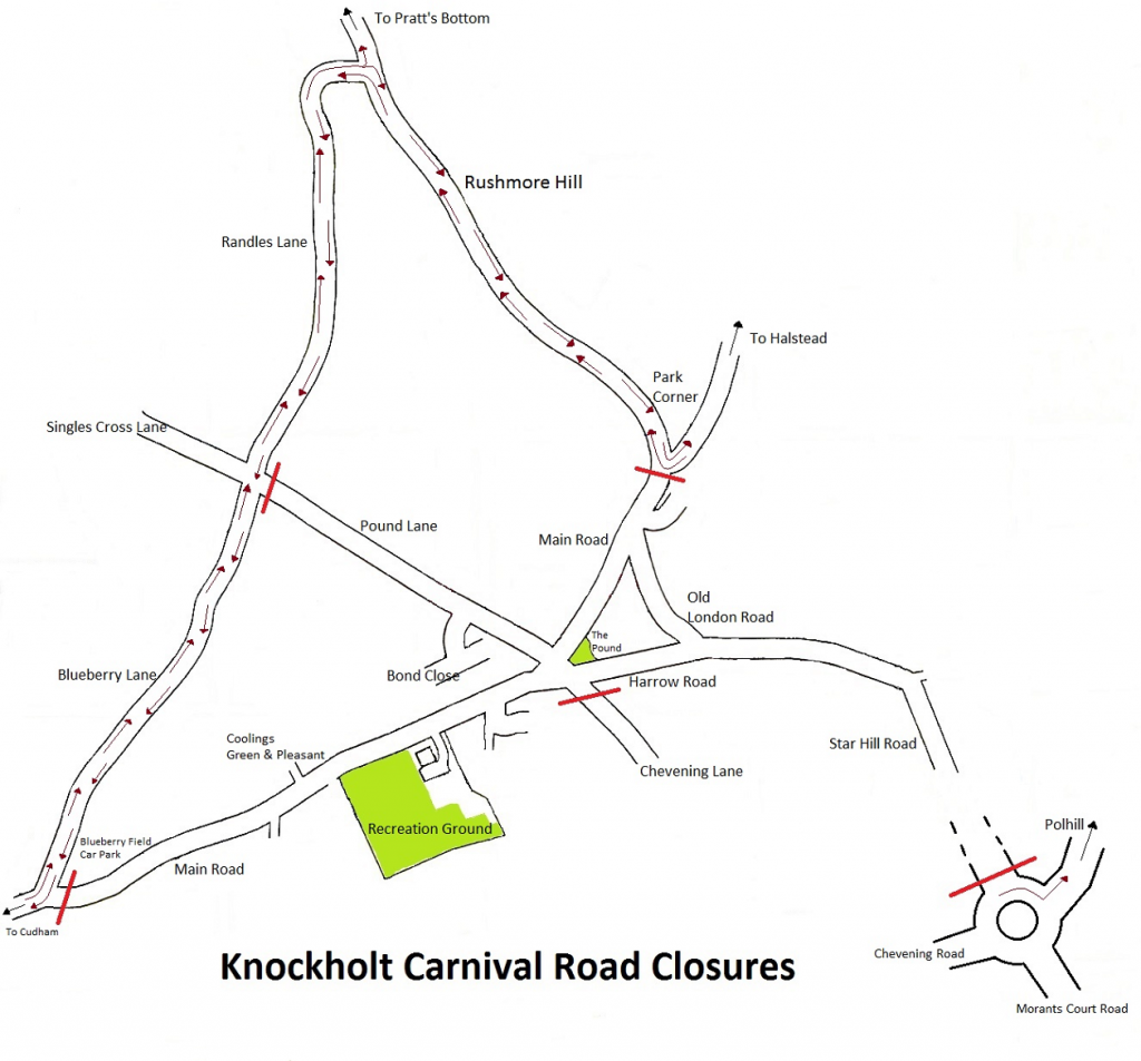 Road closures map