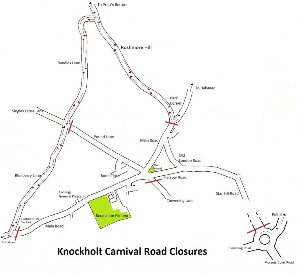 Road closures map